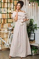 Платье женское длинное летнее с воланом P5975
