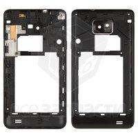 Средняя часть корпуса для мобильного телефона Samsung I9100 Galaxy S2, черная