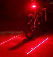 Фонарь велосипедный USB красный/белый ZH-013-038-RW
