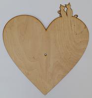 Часы Основа № 8 Сердце с котиками ТМ АТЛАС  В-0170
