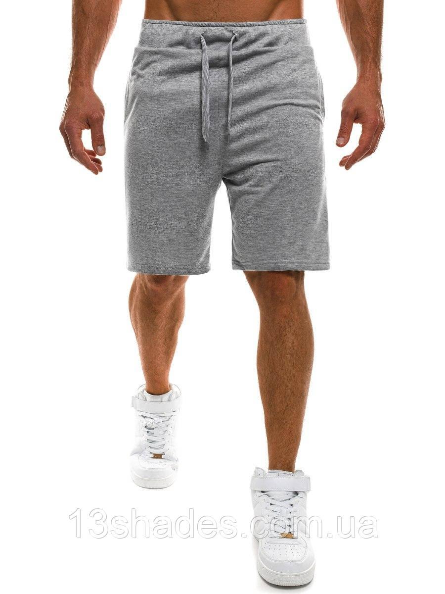 Шорты мужские спортивные хлопок (серый ) - Интернет-магазин