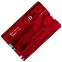 Набор Victorinox SWISSCARD  (82х54х4мм, 9 функций), красный 0.7100.T