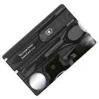 Набор Victorinox SWISSCARD LITE с фонариком (82х54х4мм, 12 функций), черный 0.7333.T3