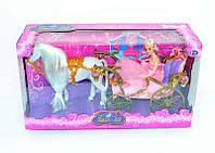 Игрушка Лошадь с каретой 778418/209 A: свет, звук, аксессуары, лошадь ходит, коробка 56х19х30 см