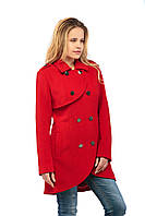 Женское пальто ПВ-12 Красный, фото 1