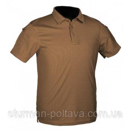 Футболка чоловіча потовыводящая колір койот Mil-Tec POLO Urban Tactical Line® матеріал - COOLMAX ®