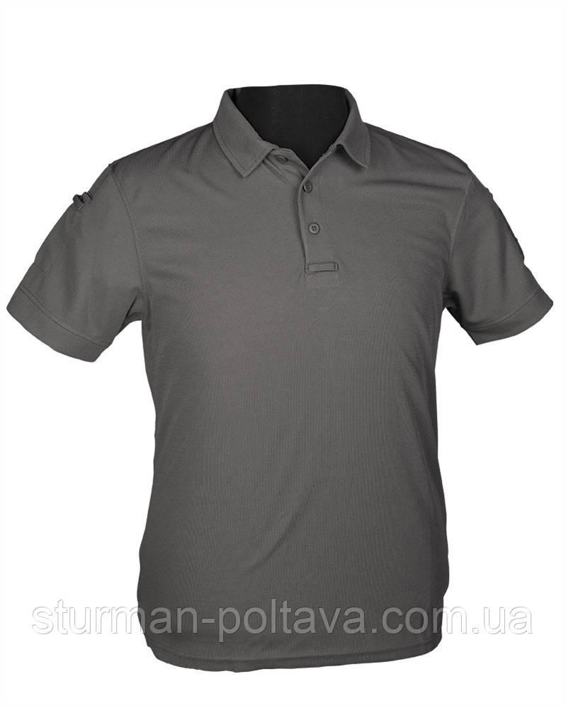 Футболка чоловіча потовыводящая колір сірий Mil-Tec Polo Urban Tactical Line® матеріал - COOLMAX ®