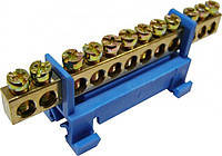 Нулевая шина с изолятором на Din-рейку S.P085 (BC-512) 6*912 отв. (АСКО)