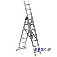 Лестница-стремянка 3х7 КРОК, алюминиевая, фото 1