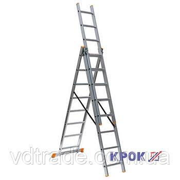 Лестница-стремянка 3х8 КРОК, алюминиевая