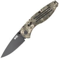 Нож складной SOG Aegis Digi Camo Black TiNi (длина:210мм, лезвие: 89мм), камуфляжный
