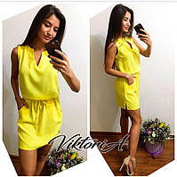 Яркое платье ШТАПЕЛЬ, код 9, цв.лимон