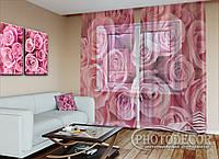 """ФотоТюль """"Розы"""" (2,5м*3,0м, на длину карниза 2,0м)"""