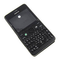 Корпус (COPY) Nokia Asha 210 black с кн.