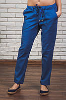 Женские брюки лен на шнурке джинс