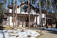 Загородный деревянный дом в пос. Революционное 340м2, установлен геотермальный тепловой насос, 2015-2016г