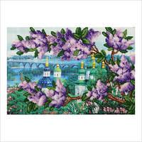 """Схема для частичной вышивки бисером """"Вид из ботанического сада"""""""