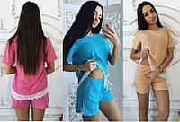 Женская пижама футболка + шорты