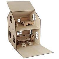 Кукольный домик с комплектом мебели.