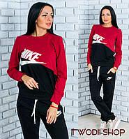 Трикотажный спортивный костюм Nike р. 42-44 красный