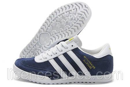Кроссовки мужские синие Adidas Beckenbauer Allround