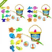 Удочка для детей, 8 рыбок и ведерко, в сетке