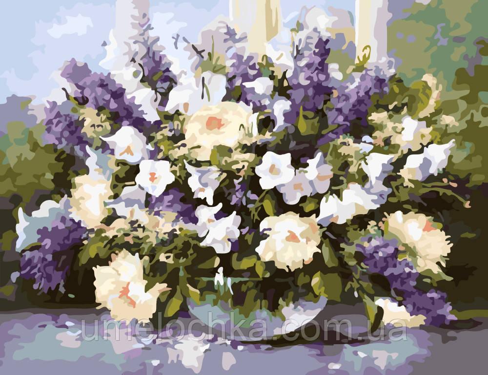 Картина раскраска по номерам на холсте Весенний букет худ Шольнхаммер Хайнц (BRM-G053) 40 х 50 см