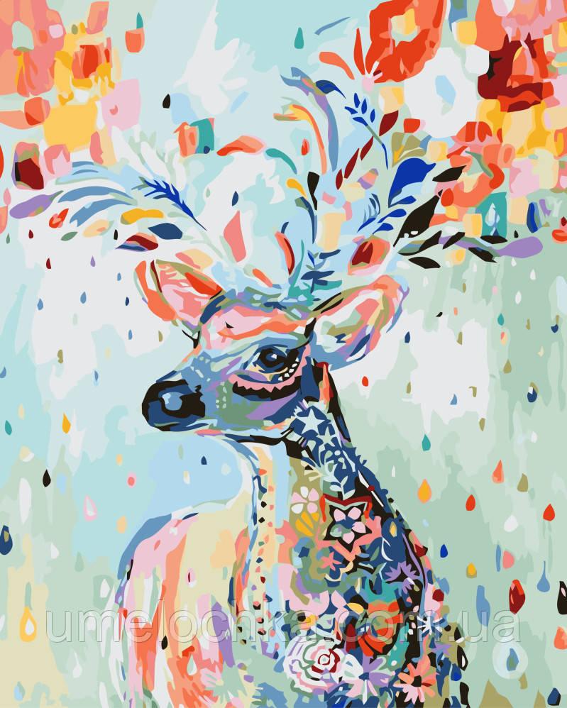 Картина-раскраска Сказочный олень (BRM-G202) 40 х 50 см