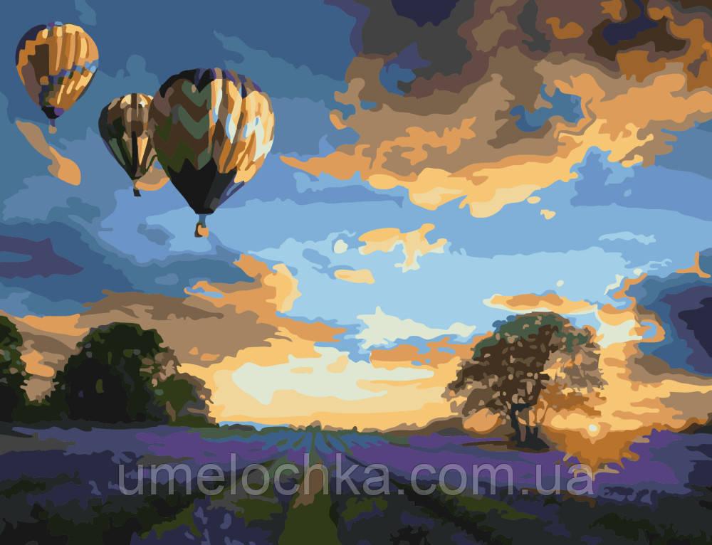 Картина по номерам Закат над лавандовым полем (BRM-G367) 40 х 50 см
