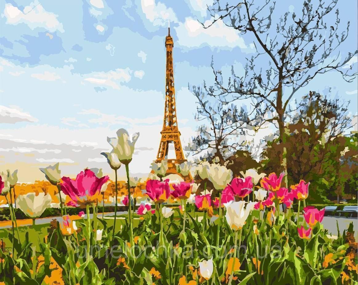 Картина по номерам Цветущий Париж (BRM-GX3258) 40 х 50 см