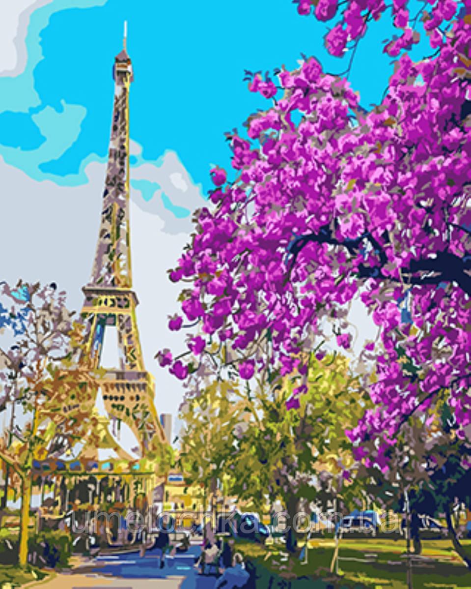 Рисование по номерам Париж Цветение вишни (BRM-GX3777) 40 х 50 см