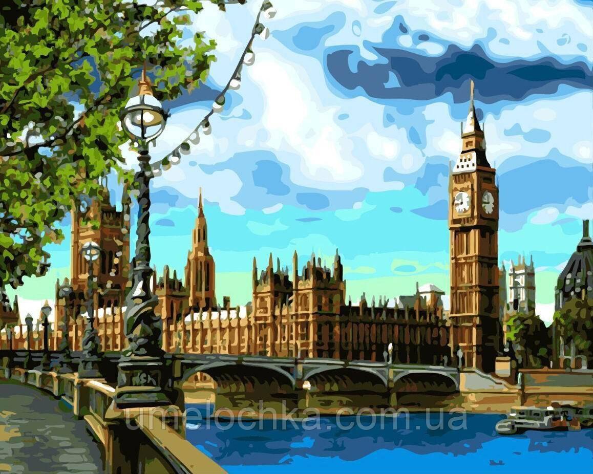 Картина по номерам Набережная Темзы (BRM-GX3882) 40 х 50 см