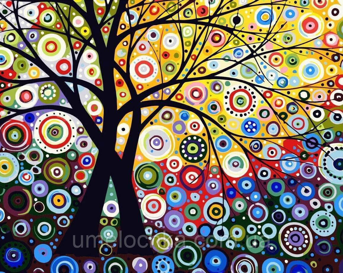 Раскраска по цифрам Дерево гармонии (BRM-GX6962) 40 х 50 см