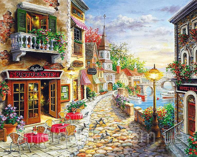 Раскраска по номерам Приморский бульвар Худ Боем Никки (BRM-GX7233) 40 х 50 см
