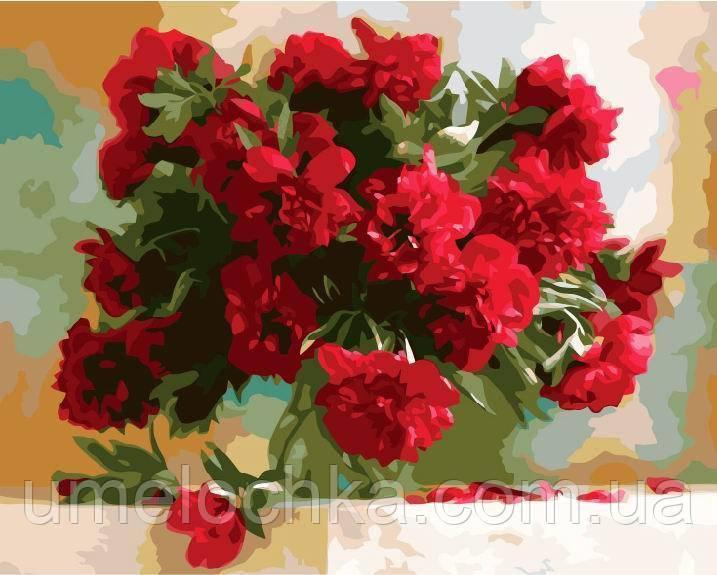 Рисование по номерам Красные пионы худ Никончук, Дарья (BRM-GX7527) 40 х 50 см