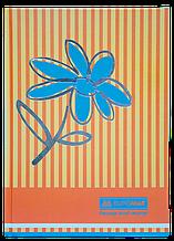 """Книга обліку """"Квіти"""" 80 арк., А4, помаранчевий"""