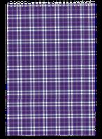 Блокнот на пружині, А4, 48 арк, клітинка, картонна обкладинка, фіолетовий