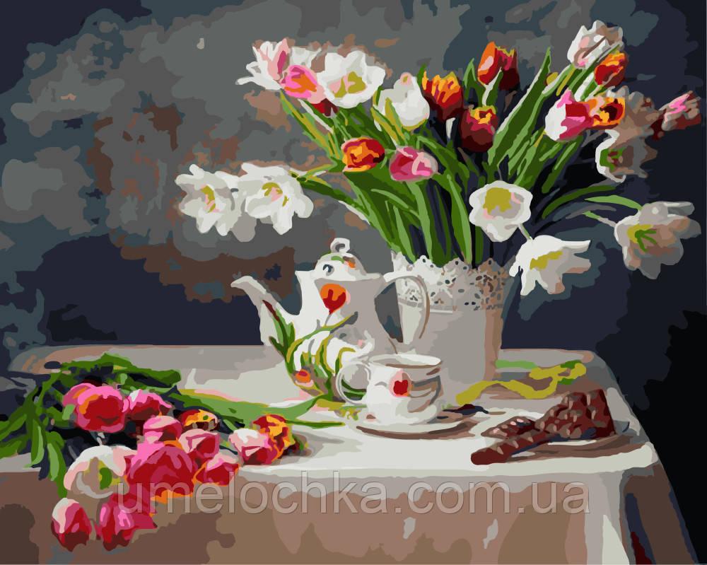Раскраска по номерам Весенний натюрморт Худ Алина Ланкина (BRM-GX8391) 40 х 50 см