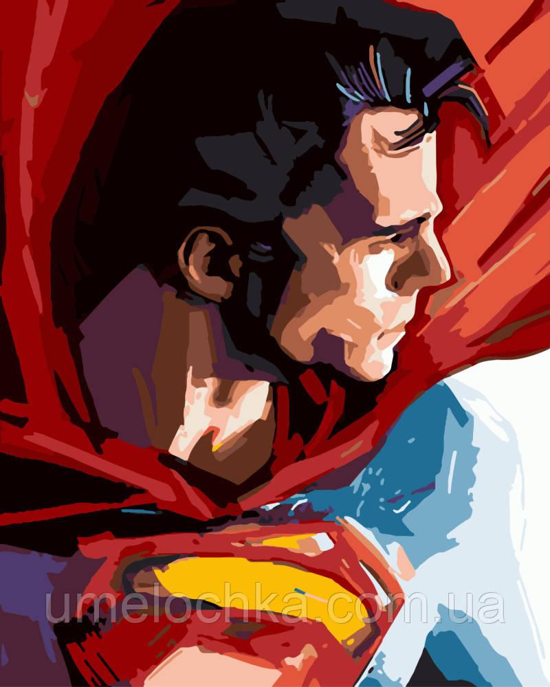 Картина по номерам Супермен (BRM-GX8733) 40 х 50 см