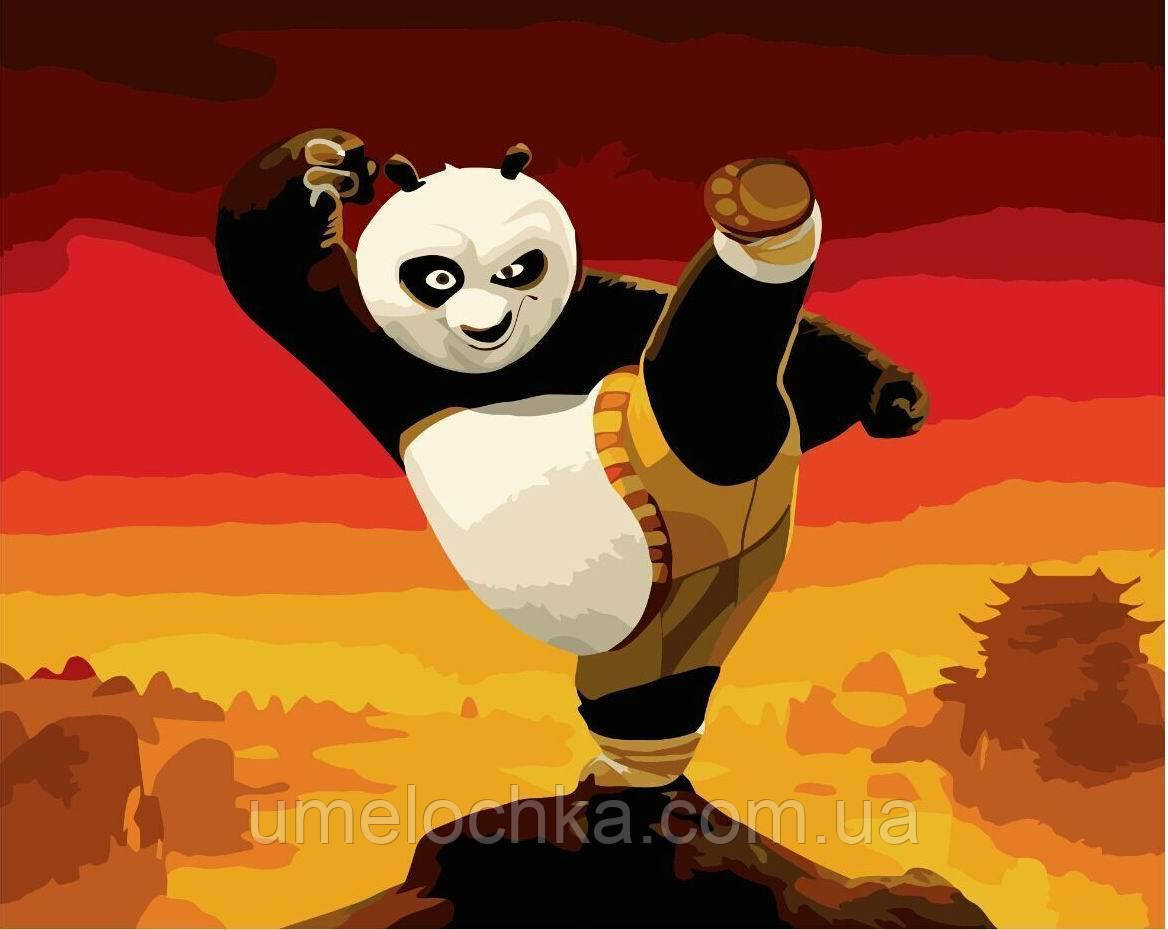 Картина-раскраска Панда кунг-фу (BRM-GX9970) 40 х 50 см