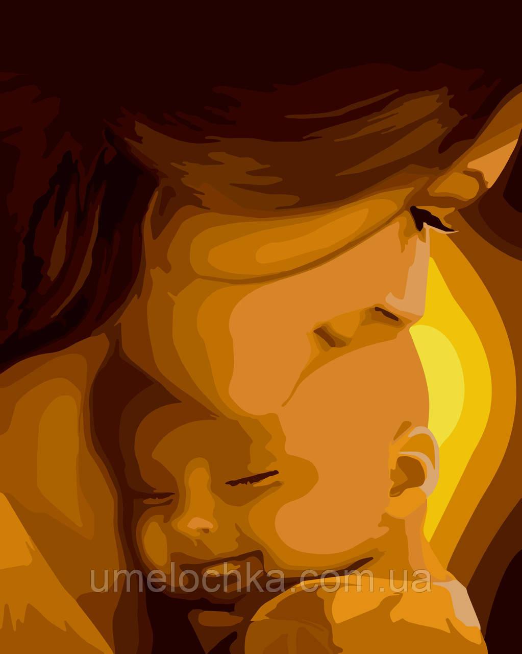 Картина-раскраска Идейка Мамино счастье (KH2308) 40 х 50 см