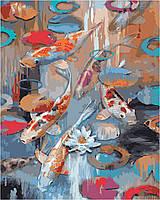 Картина по номерам Идейка Карпы Кои Худ Тимоти Паркер (KH2481) 40 х 50 см