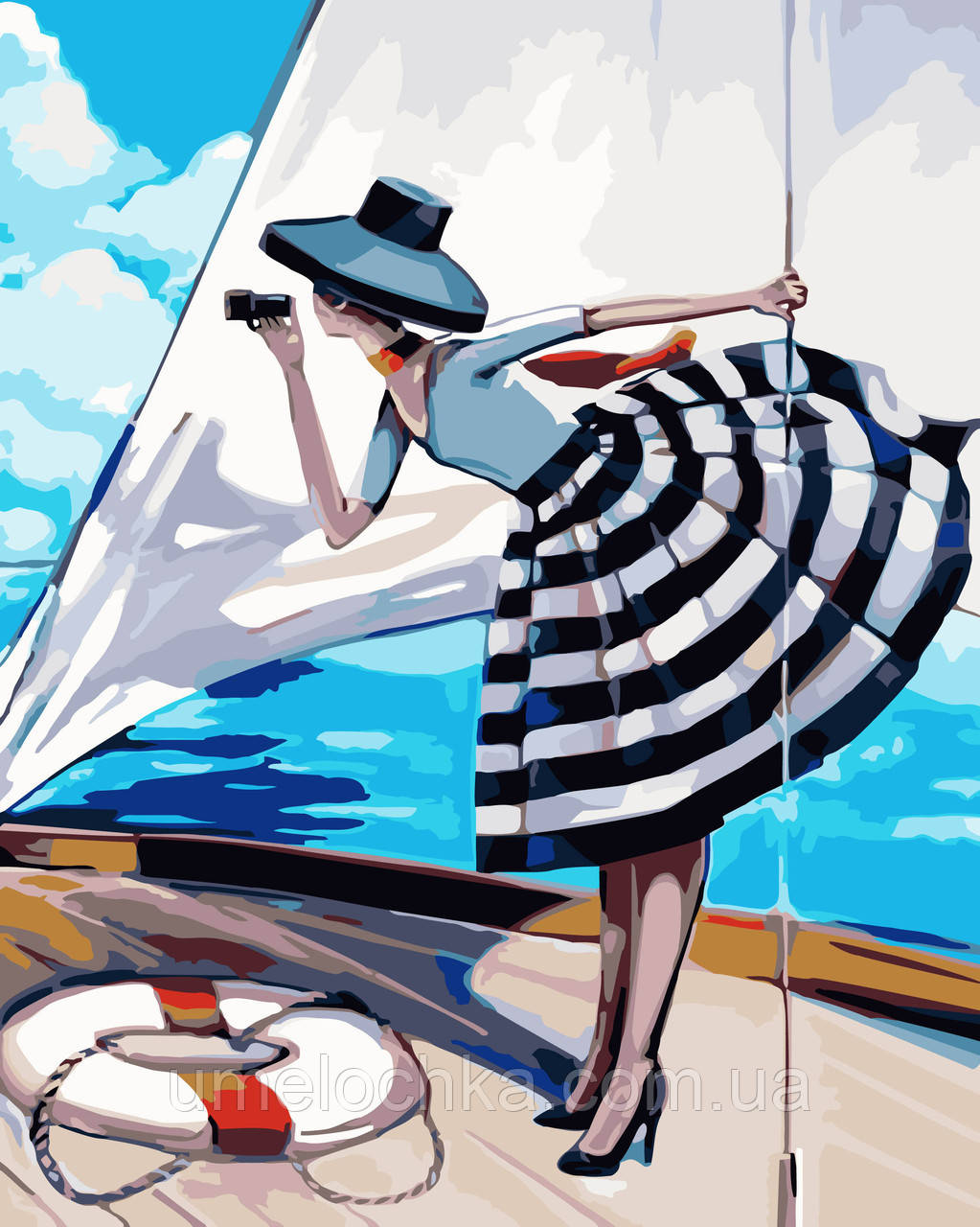 Картина по номерам Идейка Прогулка на яхте Худ Биддл Триш (KH2644) 40 х 50 см