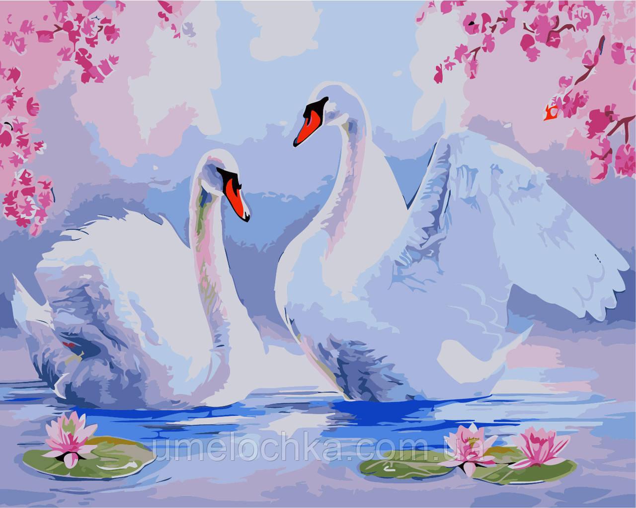 Картина по номерам без коробки Идейка Лебединая песня (KHO2478) 40 х 50 см
