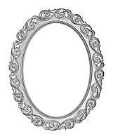 Овальная  рама для зеркала Rm08 900*700*105