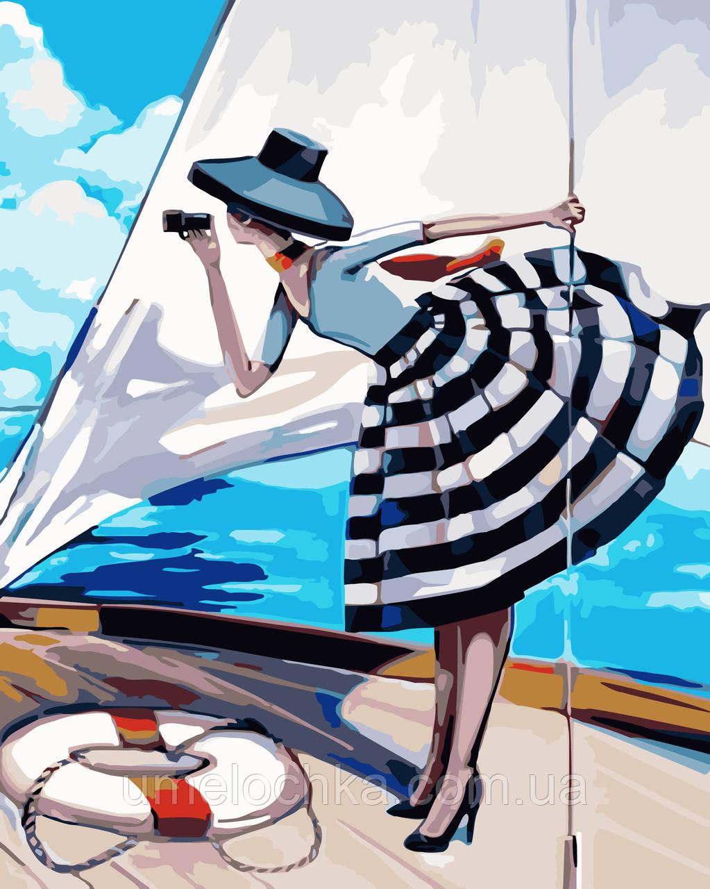 Картина по номерам без коробки Идейка Прогулка на яхте Худ Биддл Триш (KHO2644) 40 х 50 см