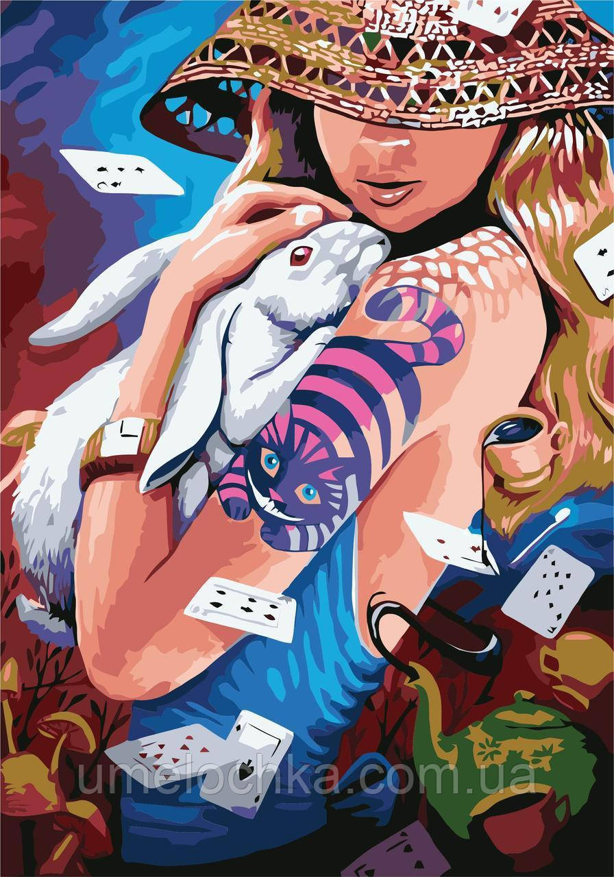 Живопись по номерам без коробки Идейка Алиса (KHO2646) 40 х 50 см