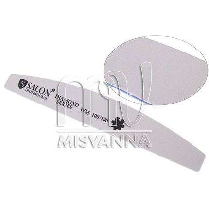 Пилка Salon Professional Diamond Series WM 100/100, полукруг белая, фото 2