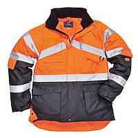 Куртка сигнальная S760 M, оранжевый/темно-синий
