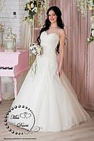 Платье свадебное а-силуэта айвори
